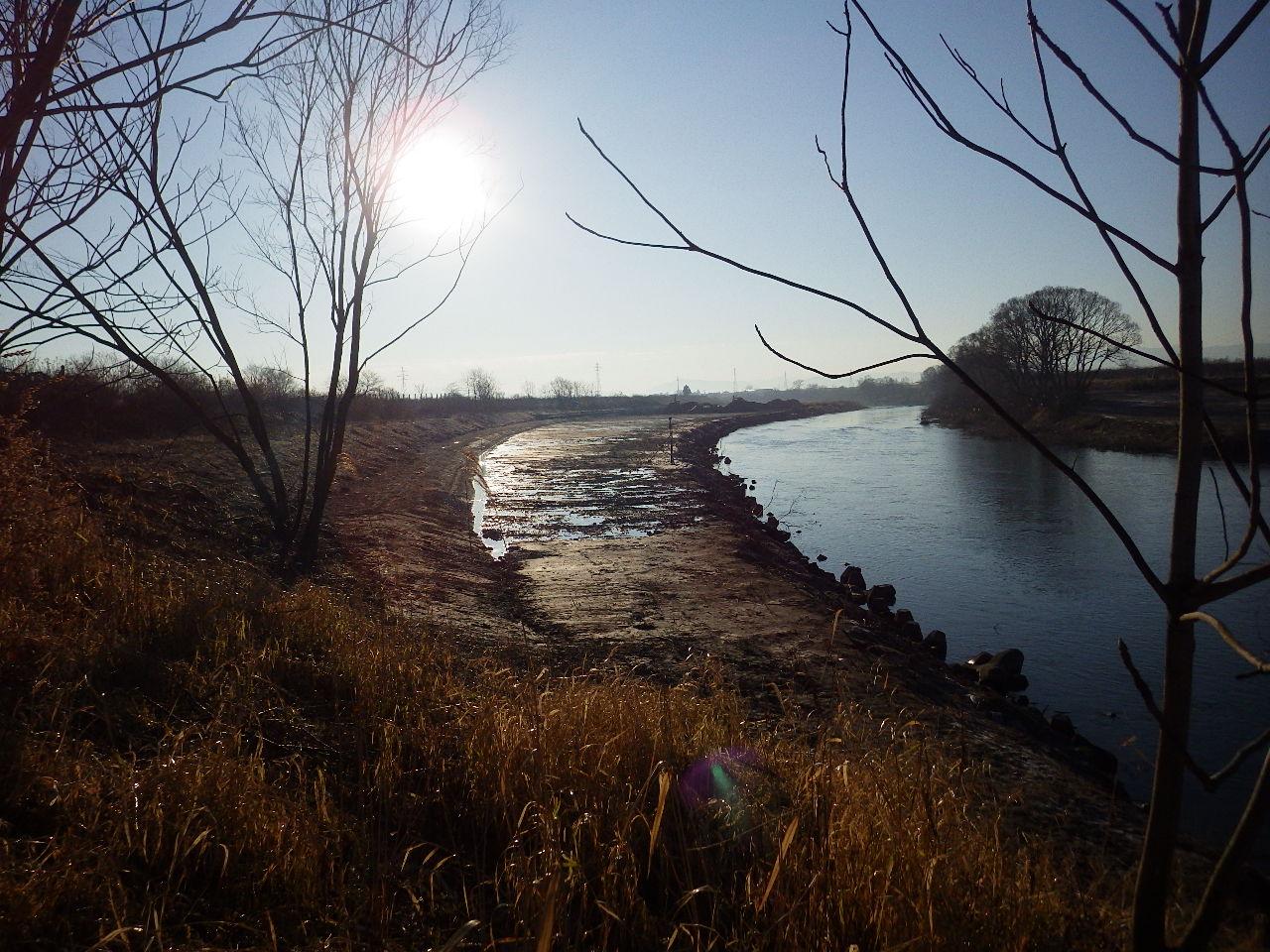 岩木川中流部河道掘削工事
