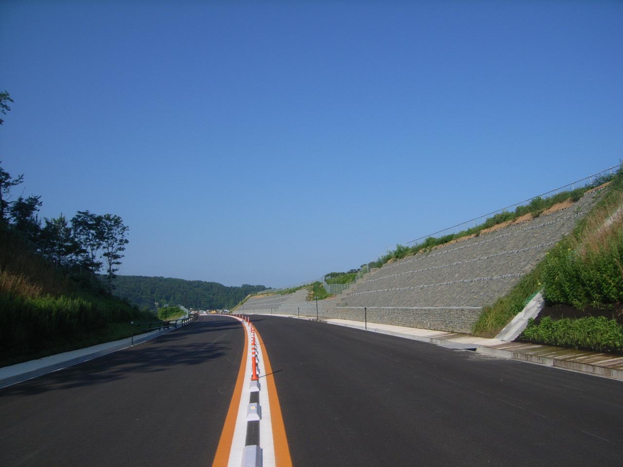 鳴沢道路改良工事